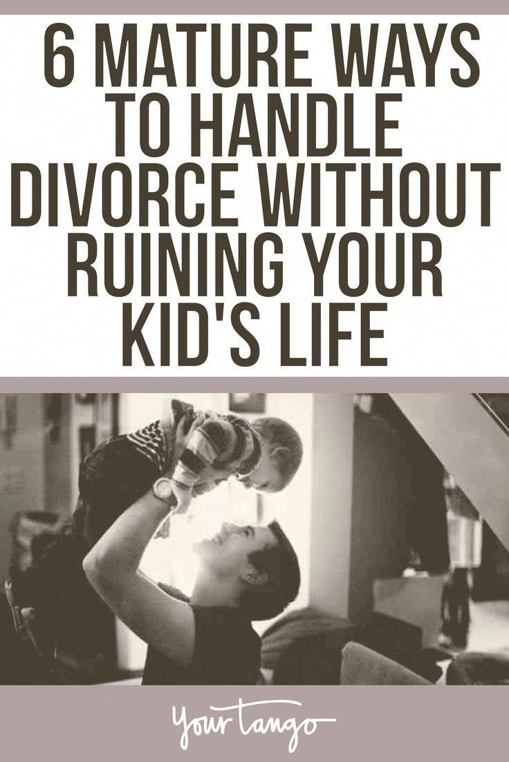6 Mature Ways To Handle Divorce Without Ruining Your Kid's Life #divorce