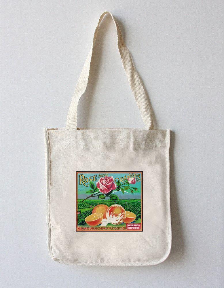 Tote Bag (Redlands, California - Rose Brand Citrus - Vintage Crate