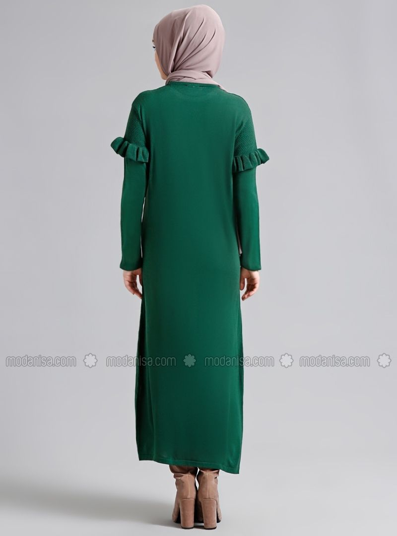 Triko Elbise Zumrut Refka Hijab Fashion Dresses Fashion