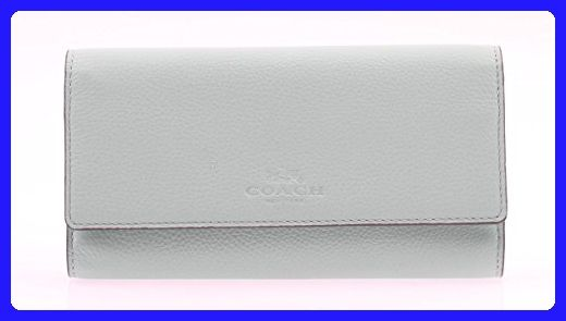 quality design bc4a7 c977f Coach Pebbled leather Trifold Wallet in Seaglass F53708 ...