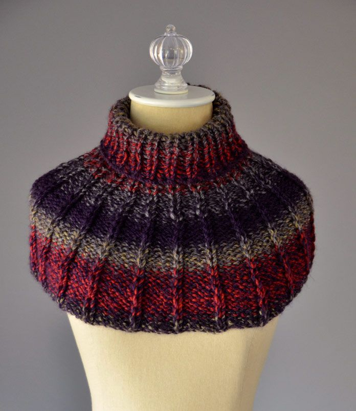 The Collar Cowl is perfect for the beginner knitter who knows how to ...