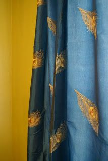 Pier One Peacock Feather Curtains Decor Panel Curtains
