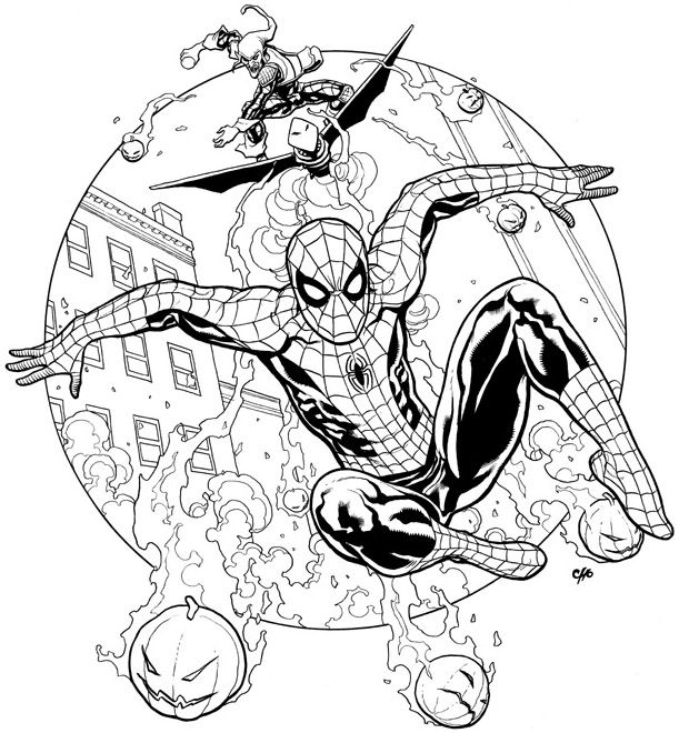 Spider Man Green Goblin Frank Cho Frank Cho Comic Art Community Spiderman Art