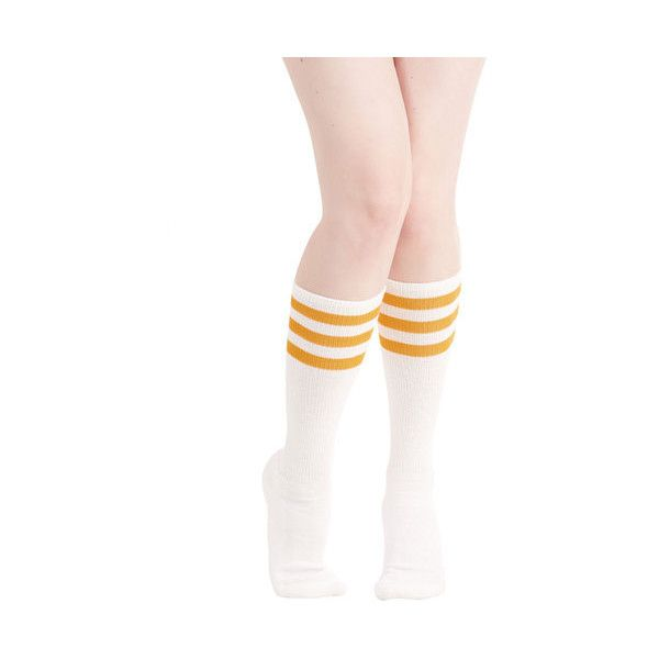 9c7d6af5919f6 Knee Highs. Sock. Scholastic Back On Track Star Socks ($12) ❤ liked on  Polyvore featuring intimates,