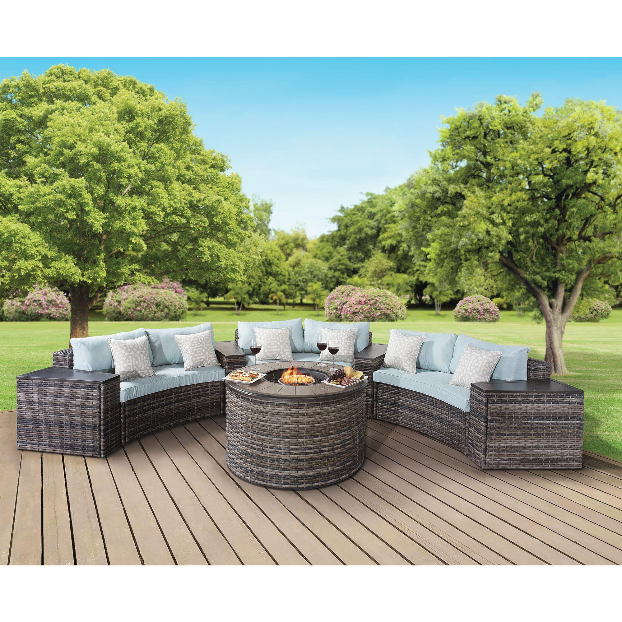 Berkley Jensen Hull 8 Pc Fire Chat Set Outdoor Furniture Sets Patio Patio Furniture