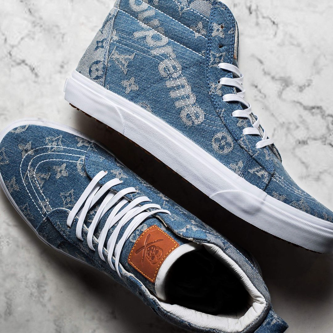 3fbe48bfaa  theshoesurgeon has crafted a one-of-a-kind Vans Sk8-HI MTE for FaZe Banks.  The sneaker is made from the highly-coveted Supreme x Louis Vuitton denim  while ...