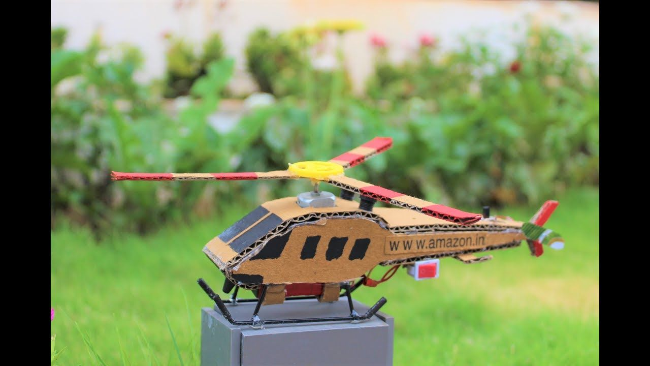How To Make a Helicopter - cardboard helicopter | Car