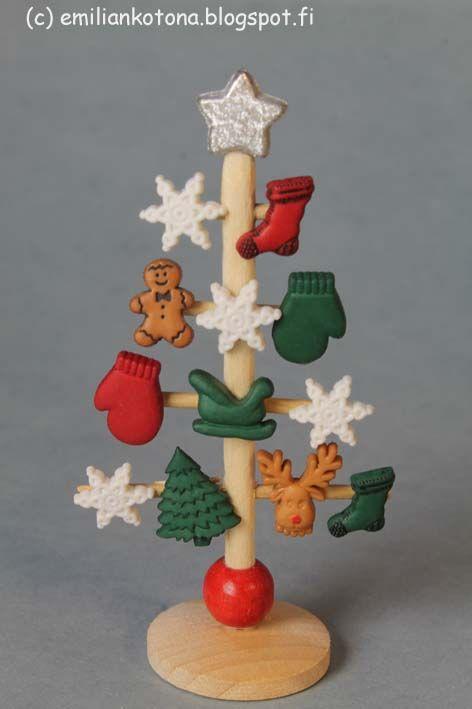 Olette nähneet tämän tyyppisen Joulupuun  toisessa blogissani . Tässä on kuitenkin koristeet erilaiset.   You have seen almost this kind o...