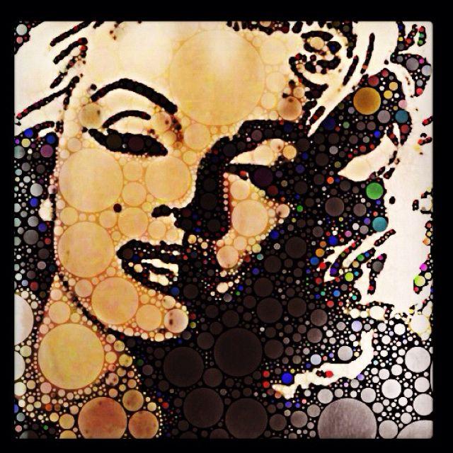 Marilyn Monroe painting.