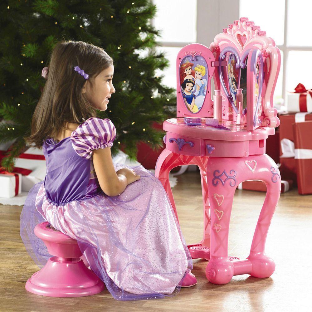 Disney Princess Vanity Heart Shaped Vanity Mirror Opens