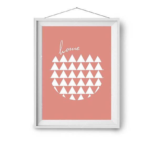 Home Wall Poster, Coral Art Prints, Scandinavian Art