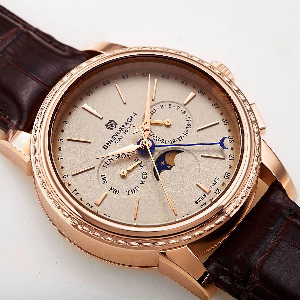 Bruno Magli 80th Anniversary Ottanta Watch in Gold | Часы | Pinterest