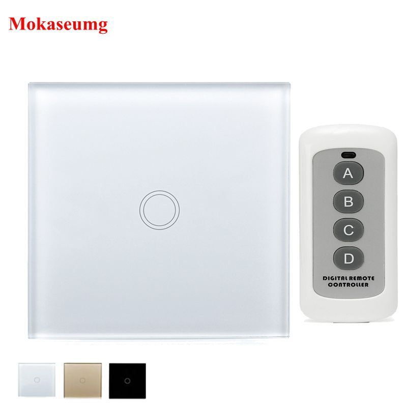 Sesoo Eu Standard Remote Control Switch 1 Gang 1 Way Wireless Remote Control Touch Light Switch Icon2 Luxury D Touch Light Switch Remote Control Light Remote