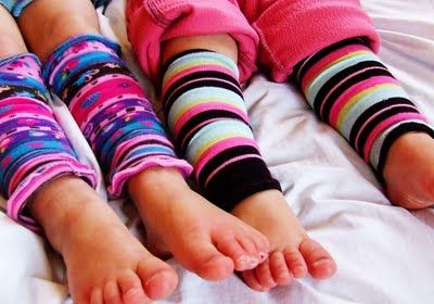 How to make leg warmers out of tights (or socks)