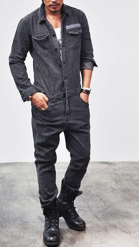 591a18cfbe Vintage Men, Fashion Vintage, Retro Vintage, Mechanic Jumpsuit, Mechanic  Overalls, Jumpsuit