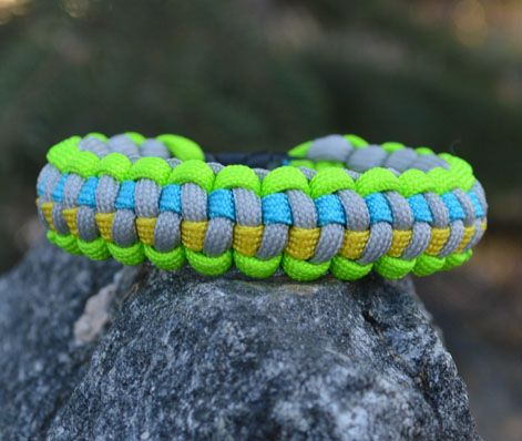 Quad Color Survival Bracelet From Rugged Apparel