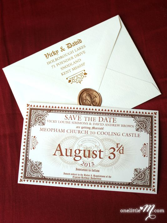 Hogwarts Express Ticket save the dates these make me want a Harry