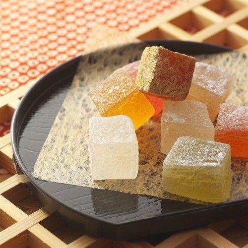 お得用寒天もち8種詰合せ (Japanese agar candy, like fruit cotlets)
