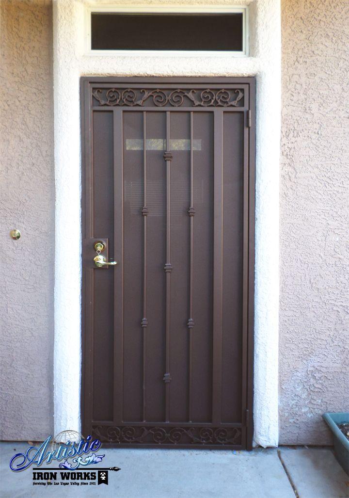 Security Screen Doors Las Vegas Security Iron Doors Wrought Iron Security Door 702 387 8688 Hender Puertas De Acero Modelos De Puertas Puertas Herreria