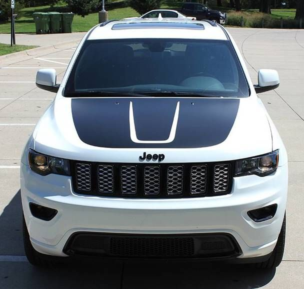 2019 Jeep Grand Cherokee Hood Stripe Trail Hood 2011 2020 3m Or Avery Supreme Or 3m 1080 Wrap Vinyl Cherokee Camioneta Vw Tiguan Camioneta Jeep