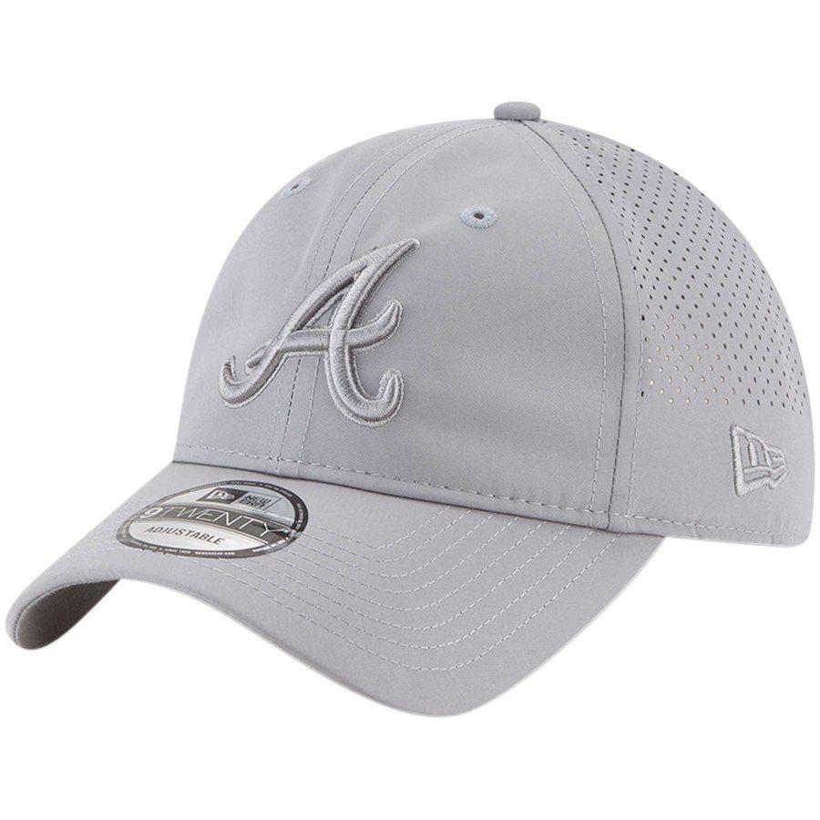 07e8d2adbb455 Atlanta Braves New Era Perforated Tone 9TWENTY Adjustable Hat - Gray ...