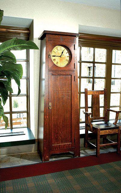 Roycroft Tall clock. This clock sits in the Grove Park Inn