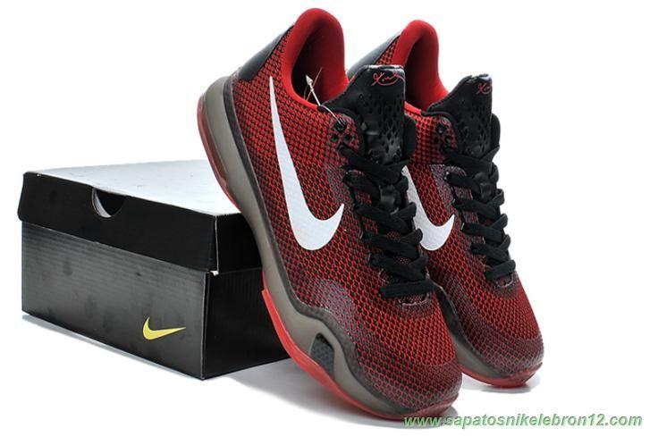 cc8f0a2fe3c venda de tenis online Masculino Vermelho   Preto 653972-615 Nike Kobe 10  Deep Garnet