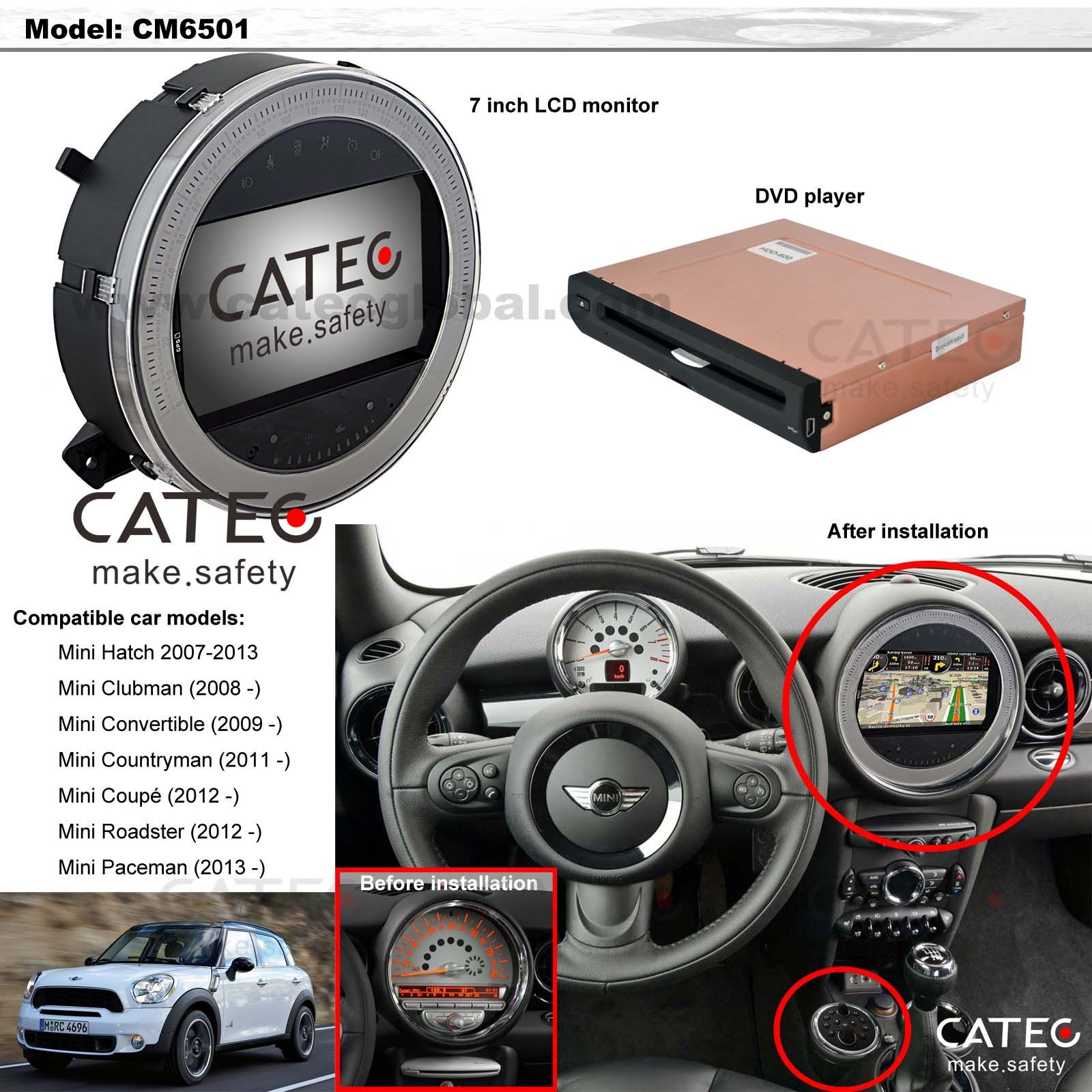 car accessories for mini countryman car gps navigation. Black Bedroom Furniture Sets. Home Design Ideas