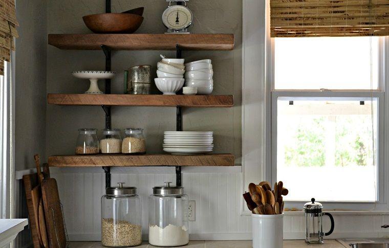 Risultati immagini per mensola cucina legno | Arredamento Cucina ...