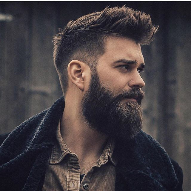 Lumbersexual haircut