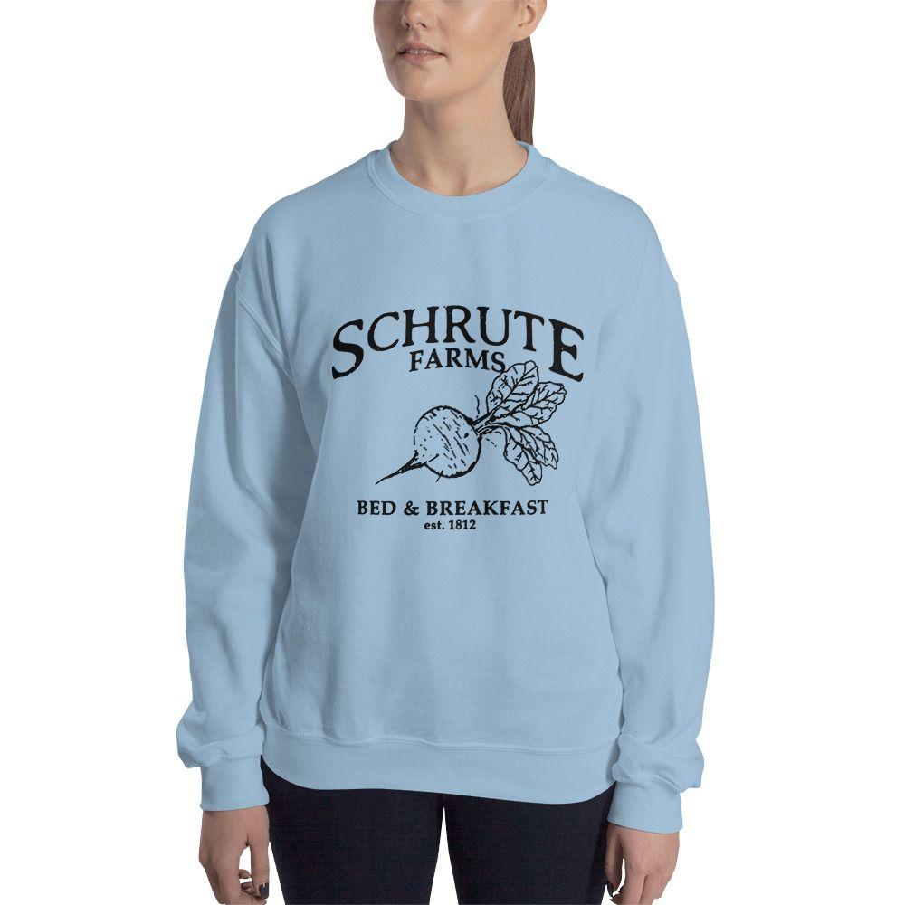 Predownload: Schrute Farm Bed And Breakfast Parks And Recreation Sweatshirt Sweatshirts Sweatshirt Buy Warm Sweatshirts [ 1000 x 1000 Pixel ]