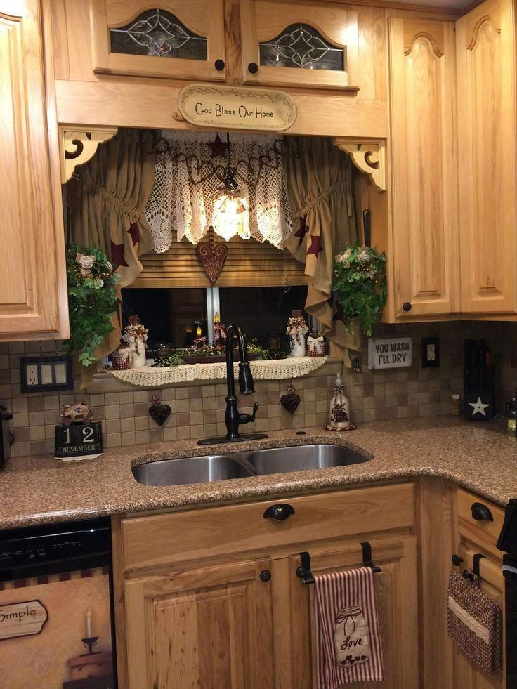primitive country decorating ideas for kitchen primitivecountrydecorating in 2020 country on kitchen decor themes rustic id=26368