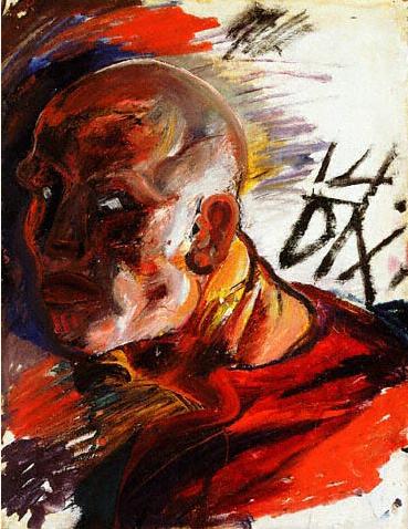 Self Portrait as a Soldier - Otto Dix, 1914