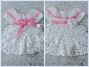 Conjunto de vestido zapato y diadema a crochet - Patrones gratis
