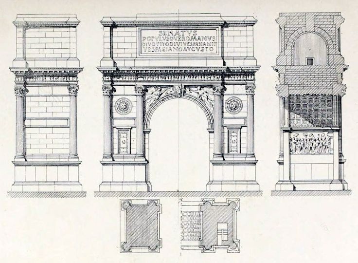 Roman Architecture Drawing arch of titus plan and section - google search | ideas for the