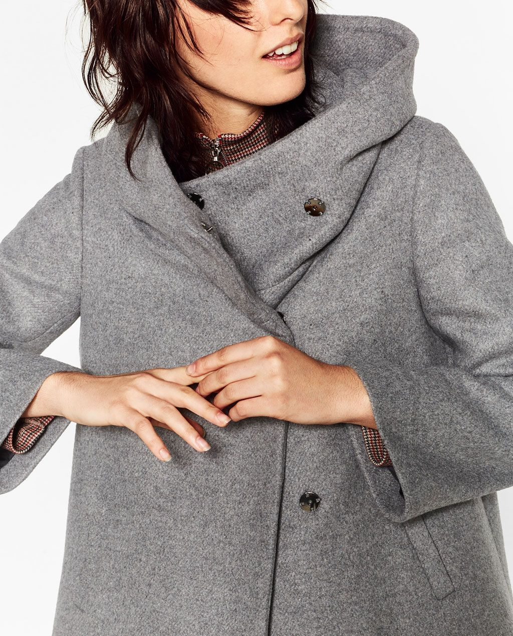 970c7025c SHORT COAT WITH WRAPAROUND COLLAR-NEW IN-WOMAN | ZARA United States ...