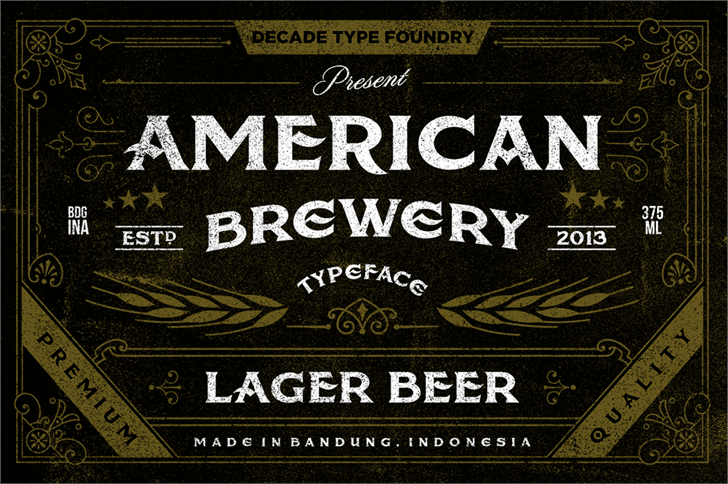 American Brewery Rough font by Decade Type Foundry - FontSpace