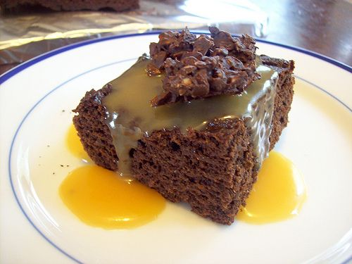 sprouted wheat chocolate cake by HealthHomeHappy.com