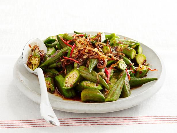 Wok-Fried Okra with Shallots and Chili Paste #Seasonal #StirFry #Okra