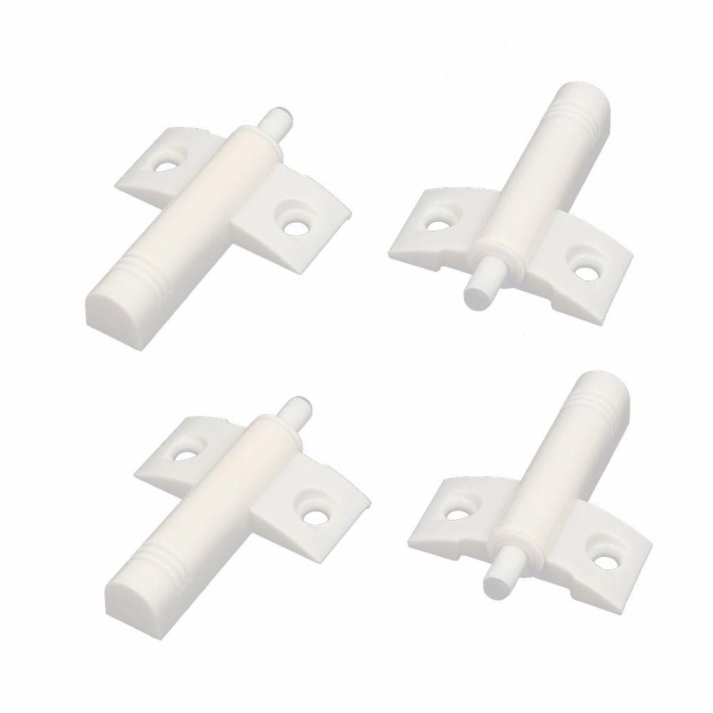Uxcell Hot Sale Plastic 64 X 46 X 13mm Kitchen Cabinet Cupboard Door Damper Buffer Soft Closer White 4pcs Cabinet Cupboard Cupboard Doors Stuff To Buy
