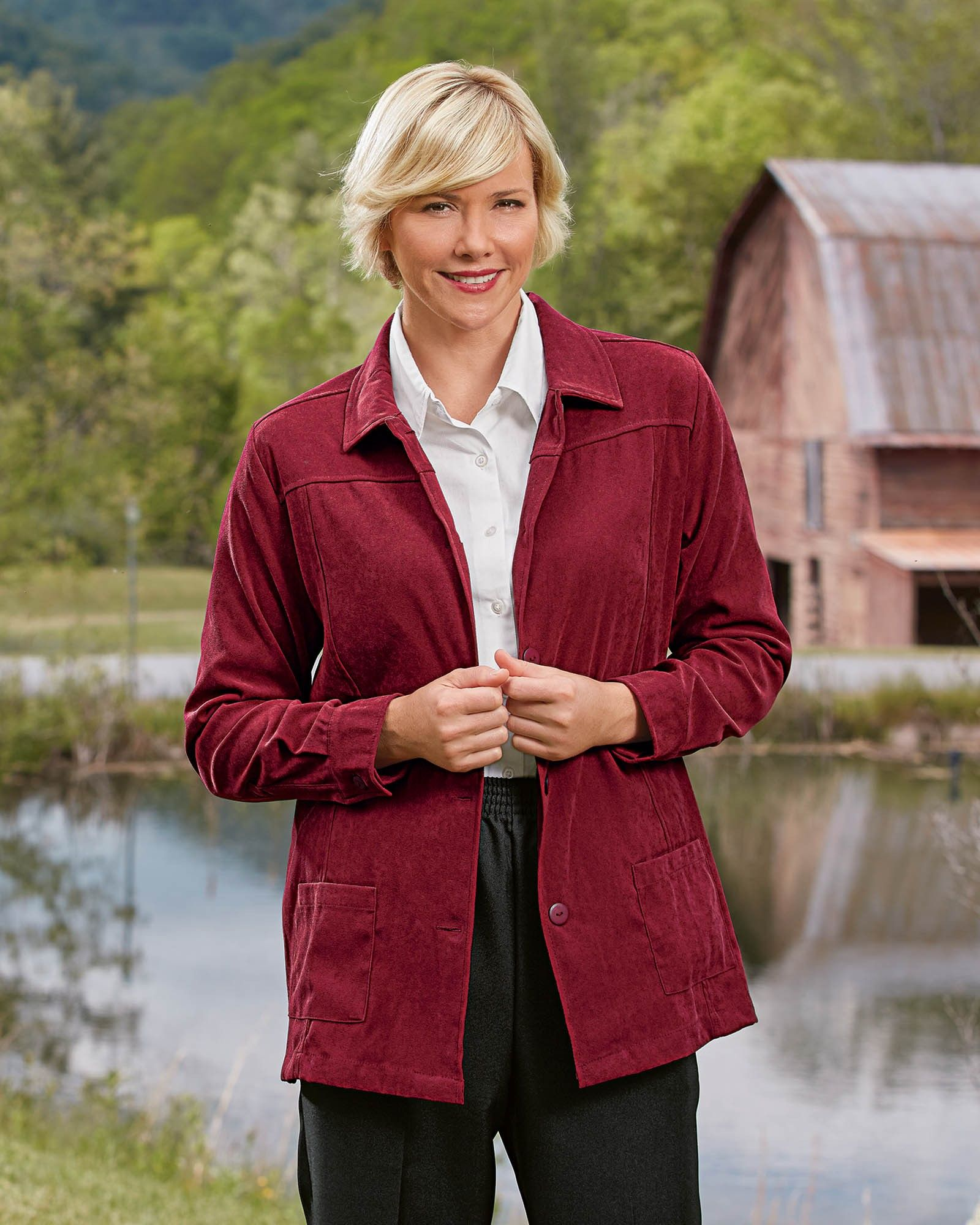 Designed to look and feel like the real thing our soft stylish Faux Suede Shirt Jacket is . . . | Natural  Classic | Modesty | Modest Apparel | Modest Style |