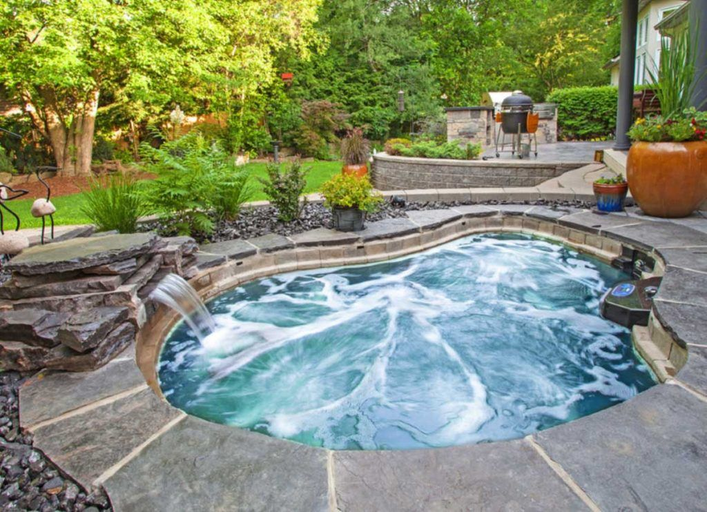 In Ground Hot Tub Cost Uk With Waterfall Home Ideas Jacuzzi