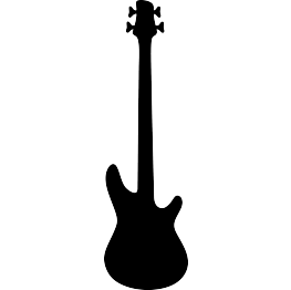 Music Silhouettes Music Silhouette Guitar Drawing Free Art Prints