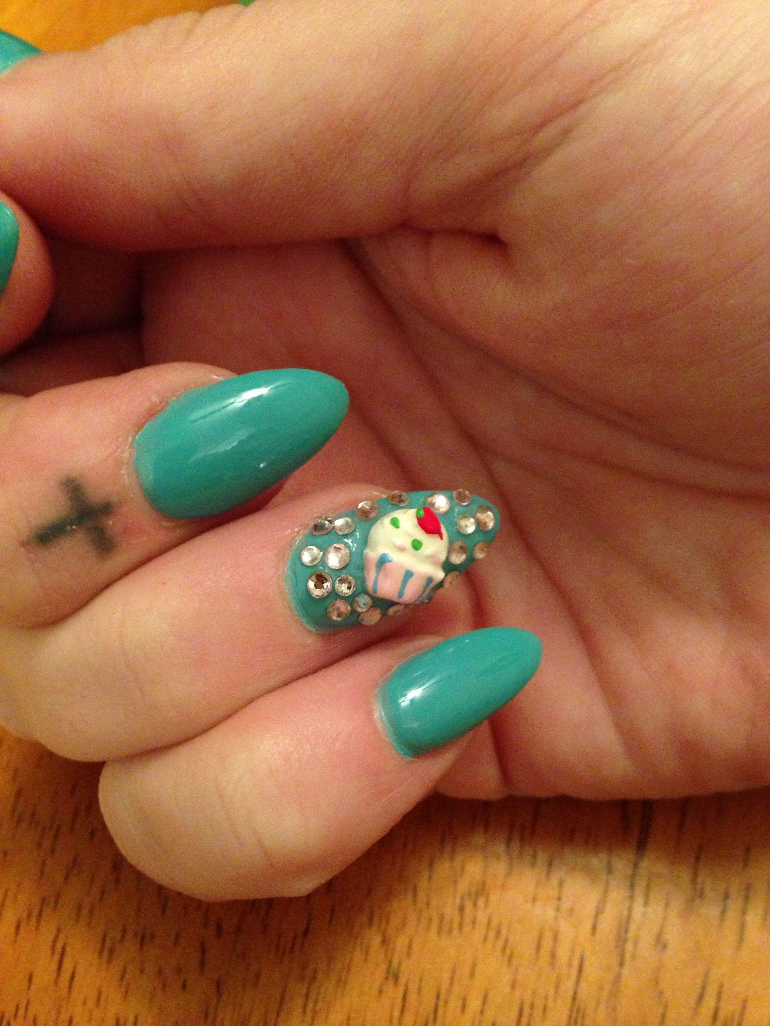 My Cupcake Junk Nail By Neva Nails Lexington Ky Hair Makeup