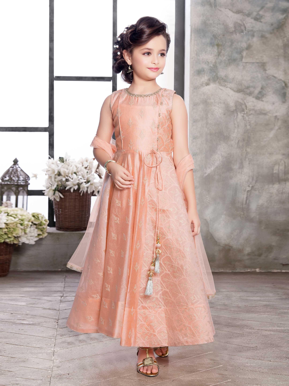 b1a4309f0 Peach color anarkali suit for girls - G3-GSS1083 | G3fashion.com ...