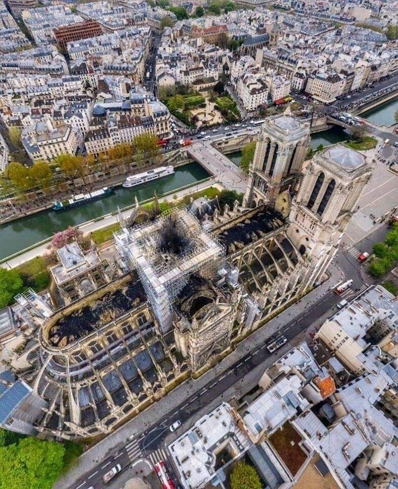 First photos from inside NotreDame After the Fire
