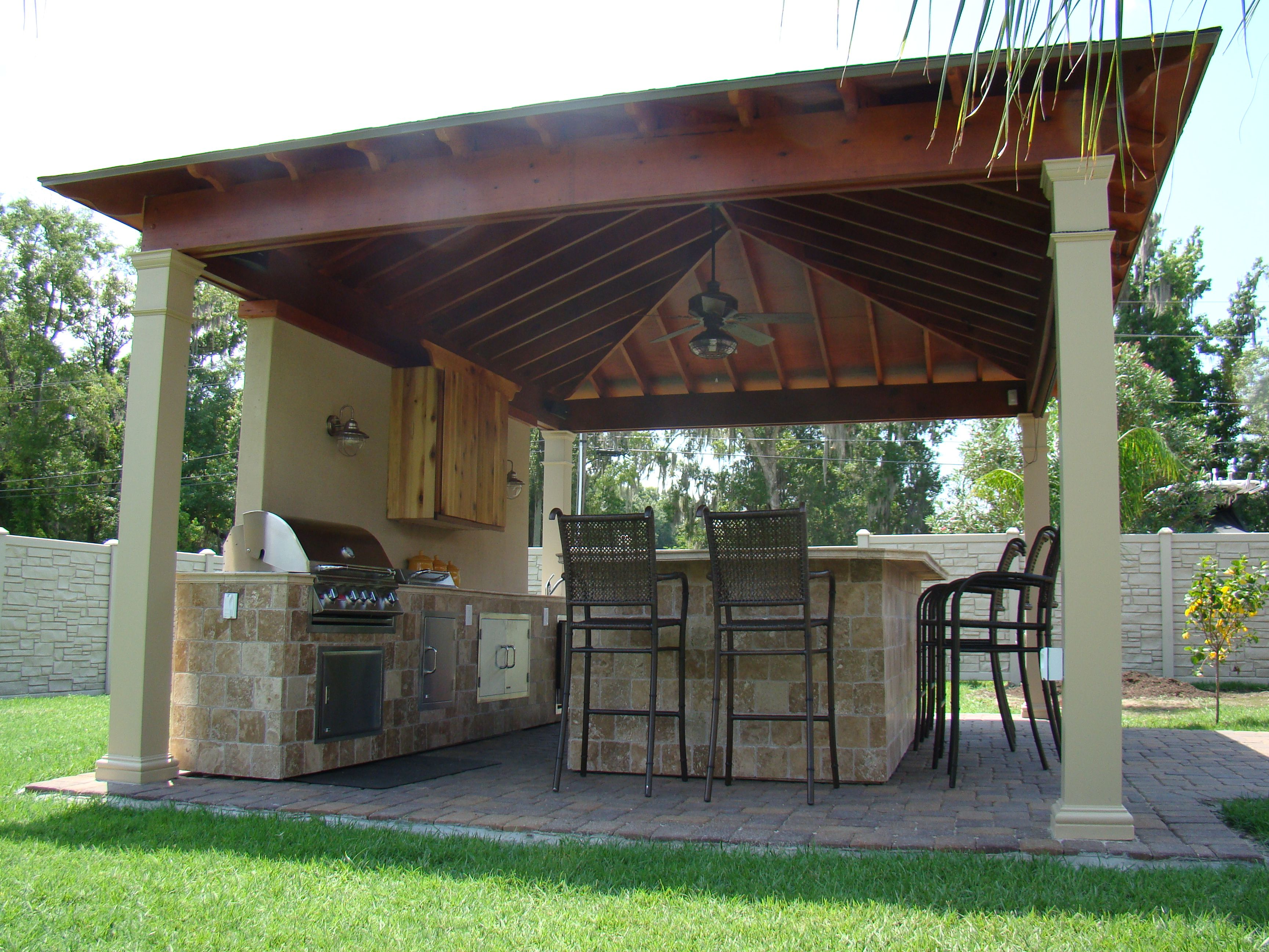 new american home outdoors kitchen At Custom Outdoor