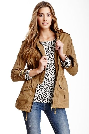Embellished Trim Cargo Jacket by Willow & Clay on @HauteLook