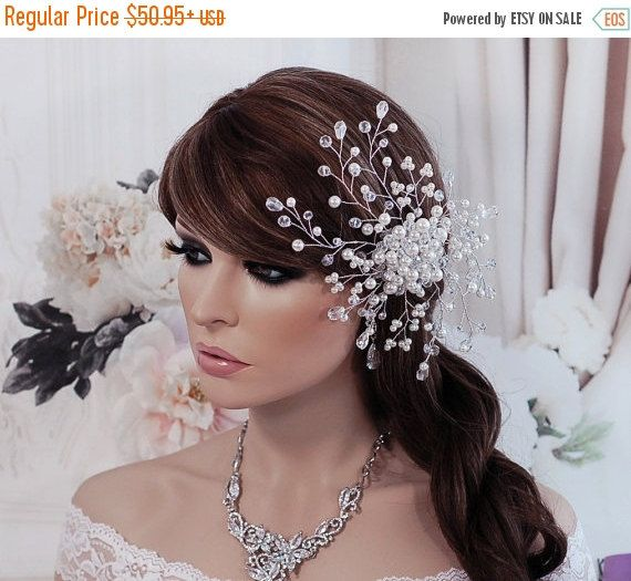 Silver or Rose Gold Bride Hair Comb Bridal Accessories Accessory Wedding Head Piece Jewelry Weddings Bird Cage Birdcage Veil Prom Party Gift