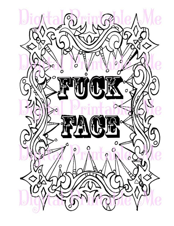 Curse Word Coloring Book Page Printable By DigitalPrintableMe